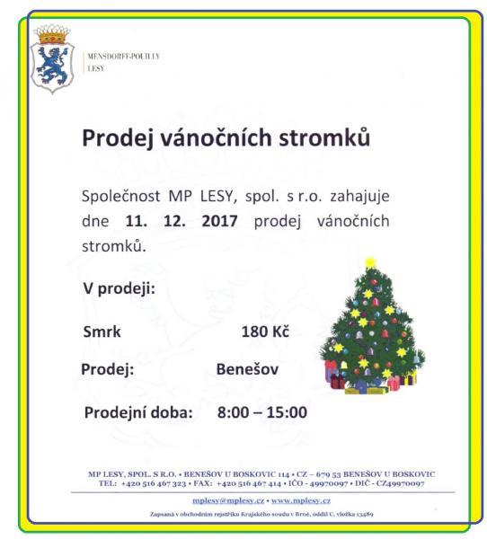 prodej stromků 2017