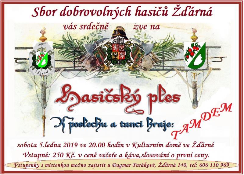 Pozvánka na Hasičský ples 2019
